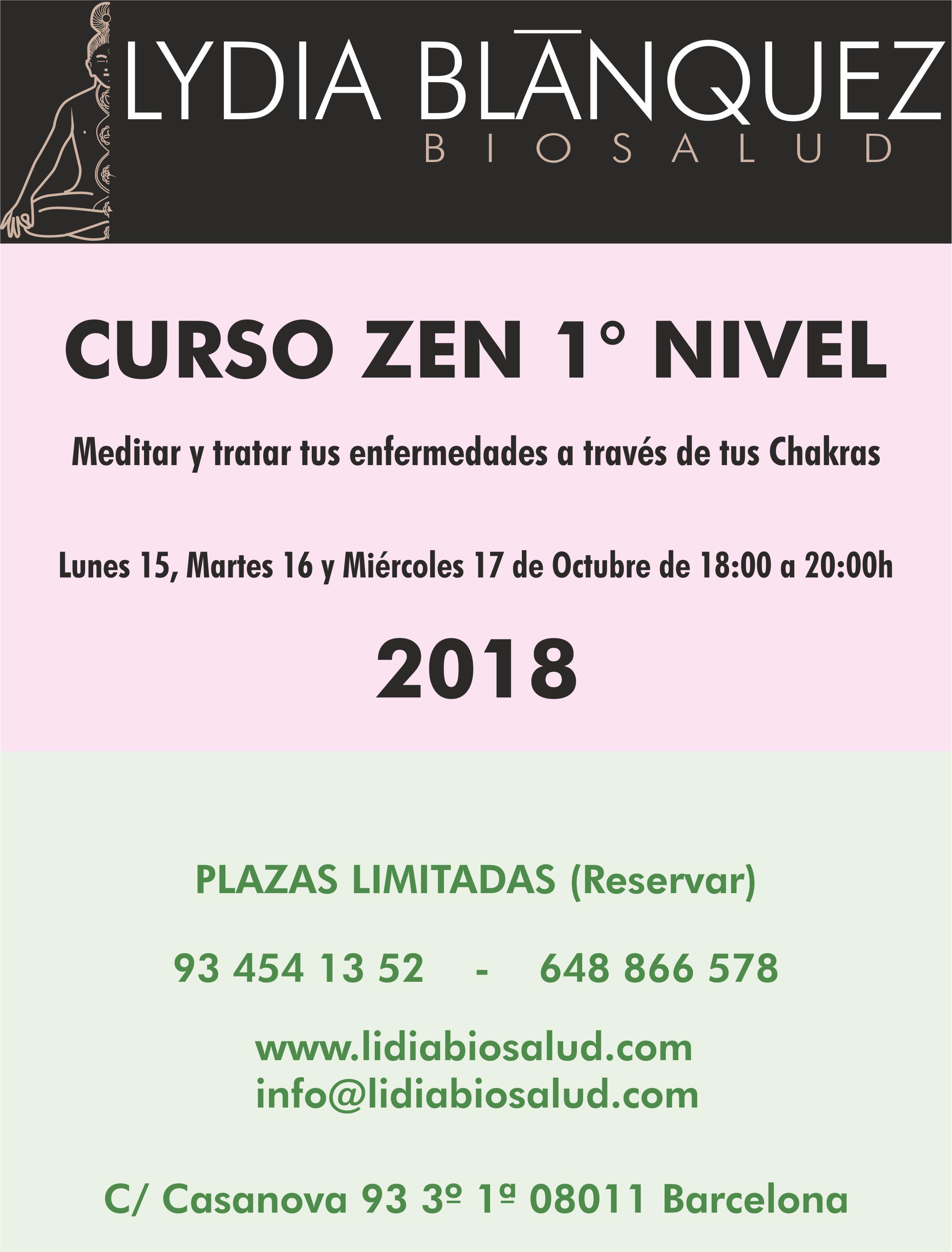 PROXIMO CURSO ZEN OCTUBRE 2018 - Lidia Bio Salud